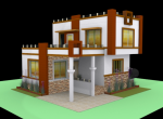 Ambar I Villa - 3D Layout – 1 BHK Villa for sale