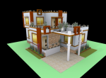 3D Layout of Ambar II - 2 BHK Villa for sale