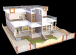 Twin Villa For Sale - 3D Layout